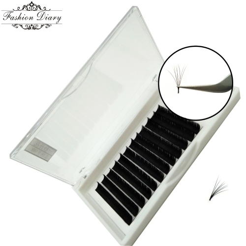 Mix length, Bulk order, Private label or customized length. One second flower lashes, Fast fanning lashes
